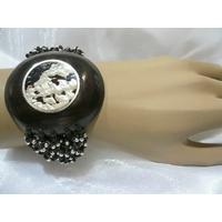 Bracelet Nacre, Bois & Argent, moderne