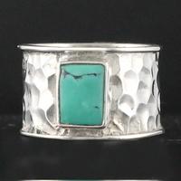 Bague turquoise & argent 925, photos contractuelles, T. 55 et 57