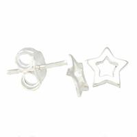 Boucles étoiles argent 925, puces 7mm