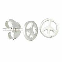 Boucles peace & love argent 925, diamètre 7mm