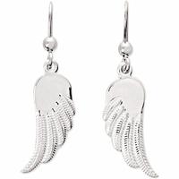 """Boucles """"ailes d'ange"""" en argent, haut. 3.6cm"""