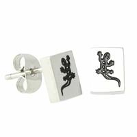 Boucles salamandre acier, 6 x 7mm, vendues par paire ou à l'unité