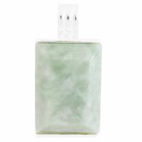 """Pendentif Jade vert """"océan"""" & argent 925, haut. 3.2cm"""
