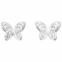 Boucles Papillon argent 925 rhôdié & oxydes, largeur 1.2cm