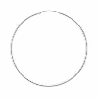 Créoles fil 2mm, diamètre extérieur 6cm, argent 925