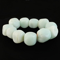 Bracelet amazonite, pierres naturelles de 1.5 à 2cm de côtés, photo contractuelle