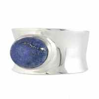 Bague lapis lazuli, pyrite & argent 925, T. 51, photo contractuelle