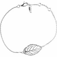 """Bracelet """"feuille"""" argent 925, régl. 16 à 18cm"""