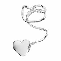 Boucle argent à clipser Coeur, vendue à l'unité.