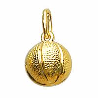 Pendentif Basket, ballon en plaqué Or, hauteur 1.8cm