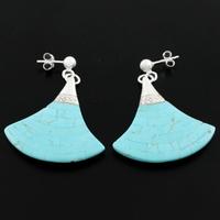 Boucles Turquoise & argent 925, hauteur 3.5cm, modèle au choix sur photos contractuelles