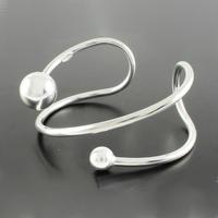 Bracelet Argent duo de boules Toi & Moi, adaptable tout poignet jusque 17cm