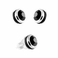 Boucles oxydes noirs, acier, 7mm, vendues par paire ou à l'unité