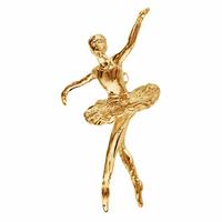 Pendentif danseuse tutu large plaqué or, haut. 2.7cm