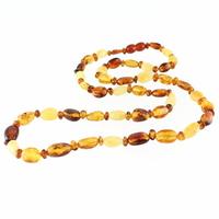 """Collier ambre mutli, qualité """"extra"""", 60cm"""