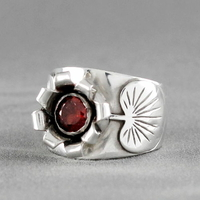 Bague grenat & argent 925 (11,30g), T. 54, photo contractuelle