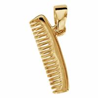 Pendentif  peigne en plaqué or, hauteur 2cm