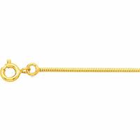 Chaîne serpentine 1.2mm ronde, 40 à 45cm, plaqué or