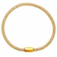 Bracelet maille pop corn 4.5mm, argent 925 doré (12g) - 20cm
