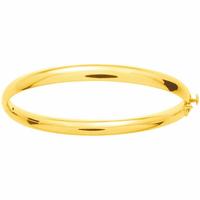 Jonc ouvrant plaqué or, largeur 6mm, poignet de 15 à 17cm