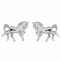 Boucles chevaux argent 925, puces 8mm x 1cm