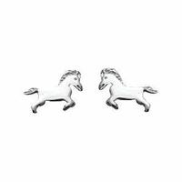 Boucles chevaux ou poneys argent 925, 6 x 9mm