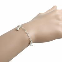 Bracelet lunes en pampilles, argent 925, réglable jusque 18cm