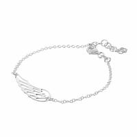Bracelet Aile d'ange, régl. 16 à 20cm, argent 925 option rhôdié