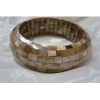 Bague nacre dor e argent fleur r glable du 52 au 58 - Mosaique doree ...