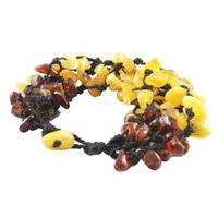 Bracelet ambre multi, multifils, poignet de 15.5cm à 17cm