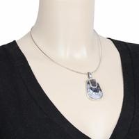 Chaîne oméga 1.6mm semi-rigide, 42 à 46cm, argent 925 rhôdié diamanté