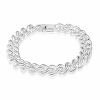 Bracelet gourmette 11mm ronde - 21-23cm, argent 925 option rhodié (60-69g)