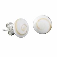 Boucles oeil de sainte lucie & argent 925, puces rondes diamètre 7mm