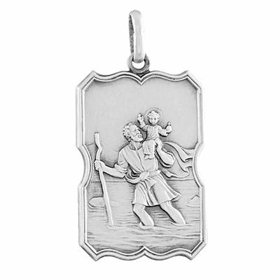 pendentif saint christophe gravure argent vieilli-073296-900p