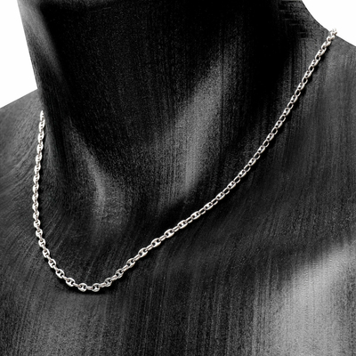 Collier grains de café 3x5mm-201289c-1200p