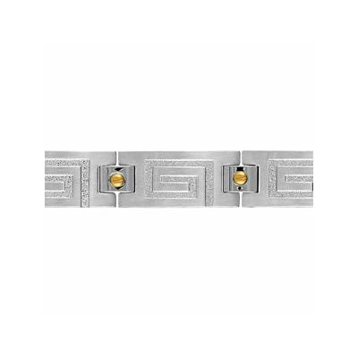 bracelet-acier-plaque-or-motif-geometrique-relief-Thabora-121470