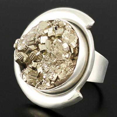 pièce unique en pyrite