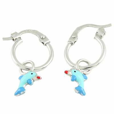 boucles dauphins créoles argent 3131307-L-500p