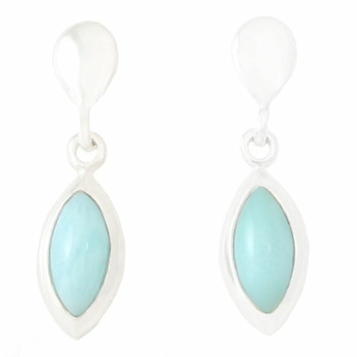 Boucles Larimar forme marquise