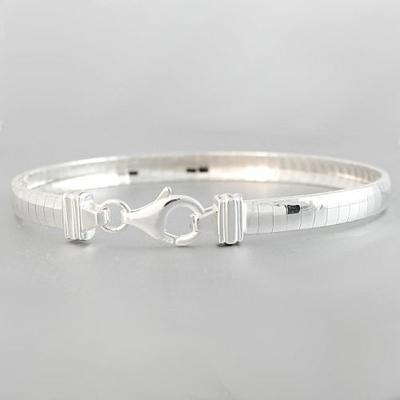 Bracelet argent massif maille miroir 5mm long 18 5cm for Miroir long argente