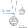 Collier arbre de vie 1 à 5 prénoms, argent 925 + long. 40 à 60cm !