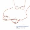 Collier Infini 1 à 4 prénoms, plaqué or rose, long. 40 à 60cm !