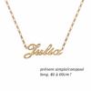 """Collier prénom """"grand modèle"""" plaqué or, long. 40 à 60cm !"""