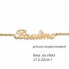 Bracelet prénom en plaqué or, long. 17 à 22cm !