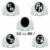 Chevalière 15x18mm, argent 925 (19g), initiales, zodiaque + gravure intérieure, T. 52 au 80 !