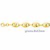 Bracelet grains de café 8x12mm, plaqué or, 18 et 21cm - MURAT