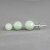 Boucles Jade & argent 925, 6 ou 8mm au choix