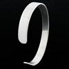 Jonc ruban plat 8mm argent 925 (16g), tour de poignet jusque 17,5cm, option gravure(s)