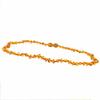 """Collier bébé ambre cognac, formes arrondies, noeuds, au choix fermoir """"à visser"""" ou """"à clipser"""" long. 34 et 36cm"""