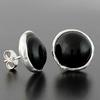 Boucles onyx & argent 925, diamètre 1.5cm